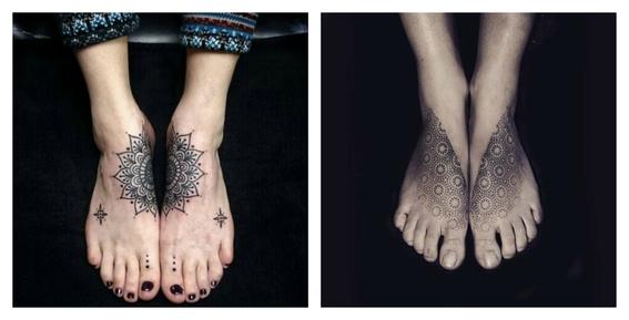 tatuajes en el empeine 8