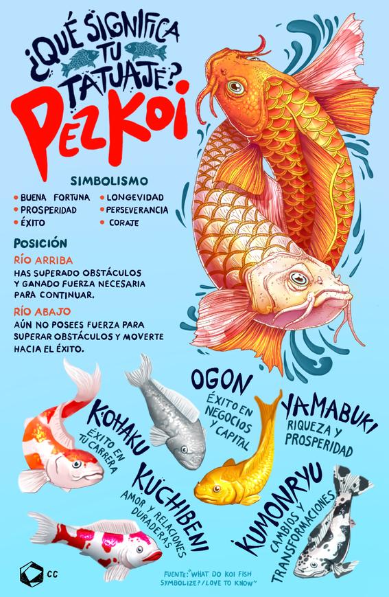 infografia significado de pez koi 1