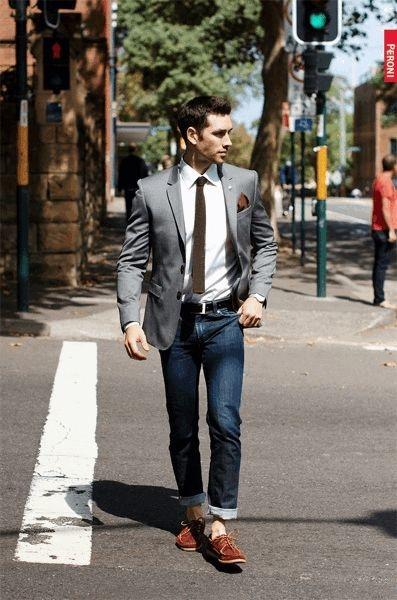 9 Errores Que Cometen Los Hombres Al Usar Jeans Con Saco Moda Moda