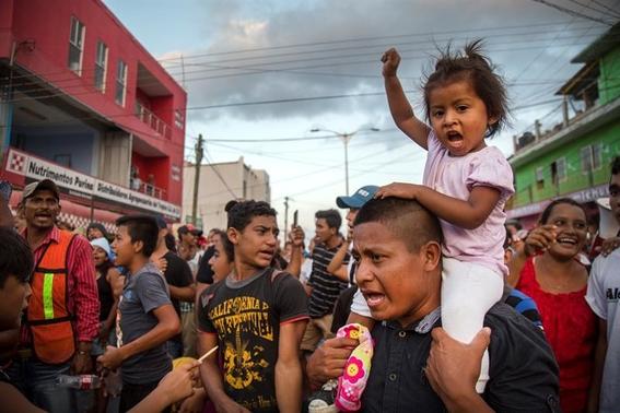 caravana de migrantes llega a la frontera 1