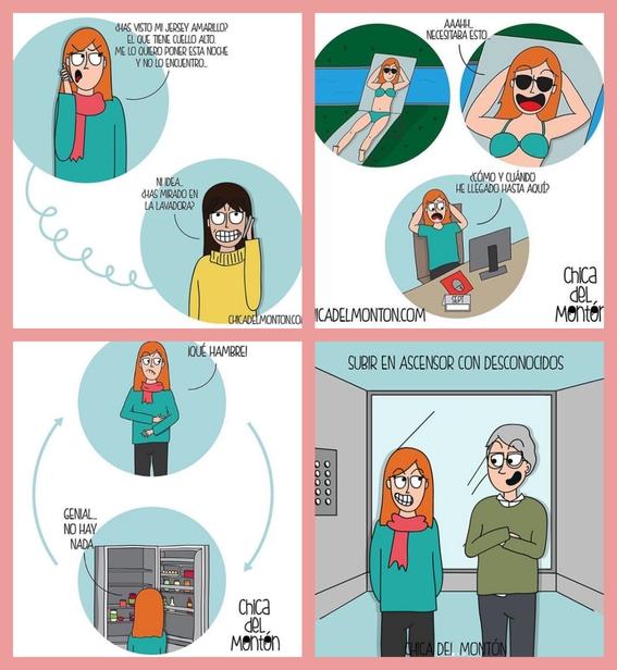 ilustraciones de chica del monton 12