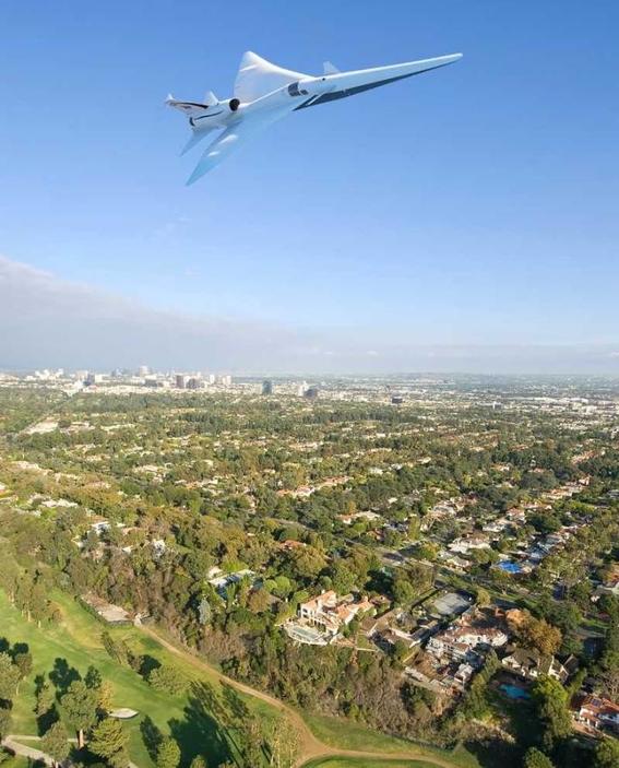 avion supersonico de nasa en aeropuertos 1