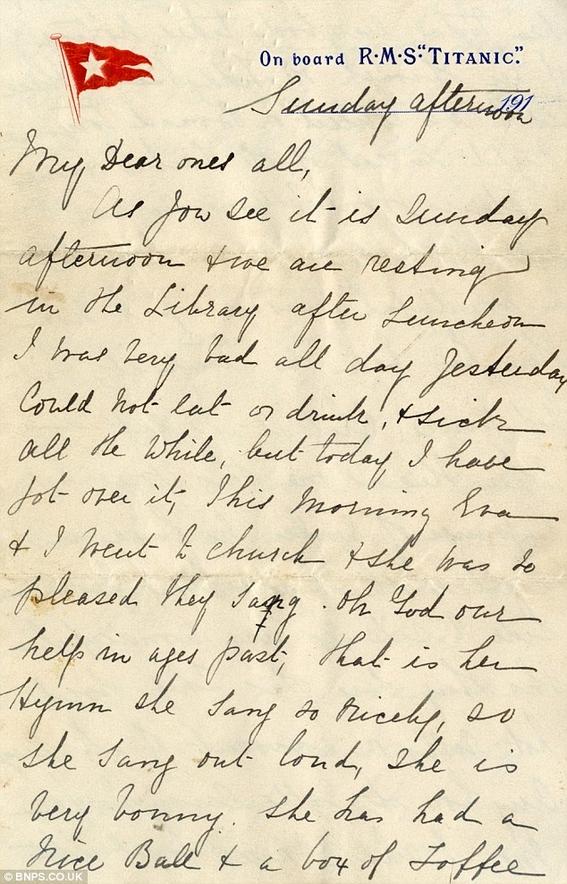 cartas escritas en el titanic 7