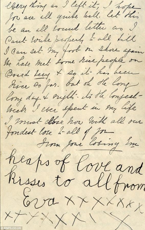 cartas escritas en el titanic 8