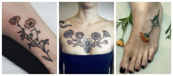 tatuajes de flores 13