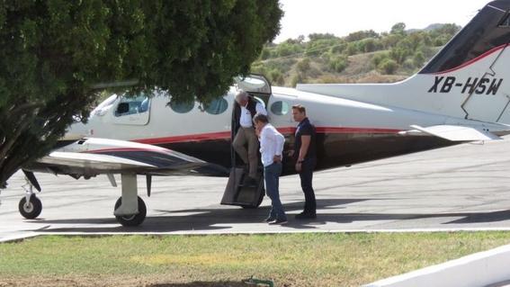 margarita zavala viajo en avion privado 2