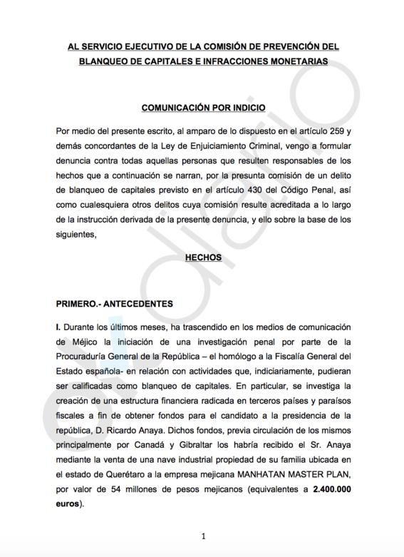 espana investiga lavado de dinero de ricardo anaya 1