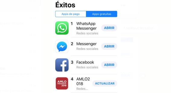 app de amlo tiene mas descargas que tinder 2