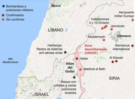 israel bombardea siria 1