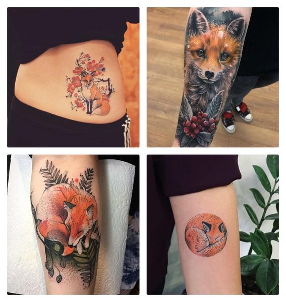 tatuajes de zorros para hombres y mujeres 1
