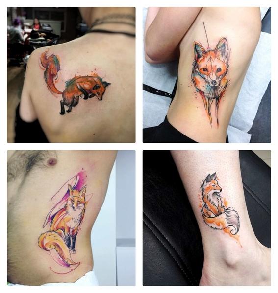 tatuajes de zorros para hombres y mujeres 3