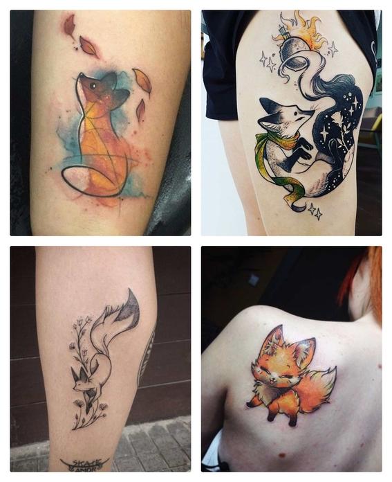 tatuajes de zorros para hombres y mujeres 5