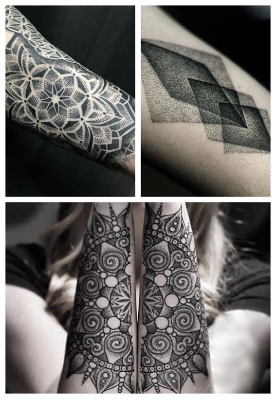 tatuajes en puntillismo 1