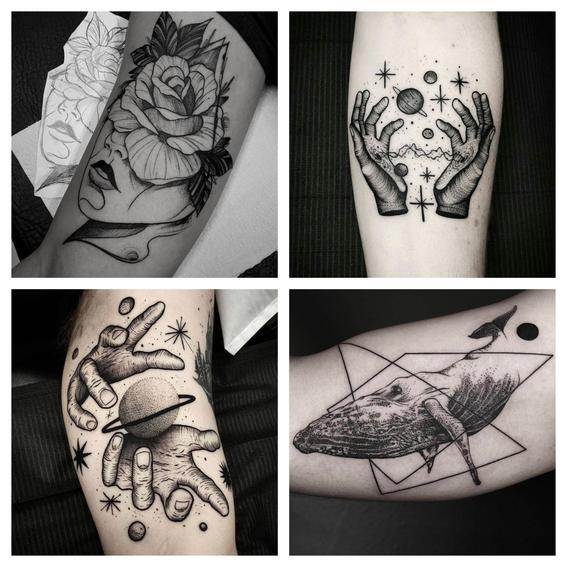 tatuajes en puntillismo 4