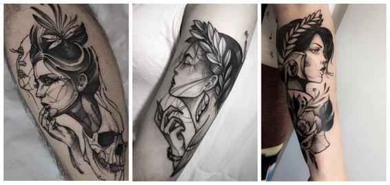 tatuajes en puntillismo 8
