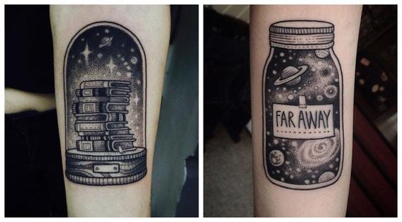 tatuajes en puntillismo 9