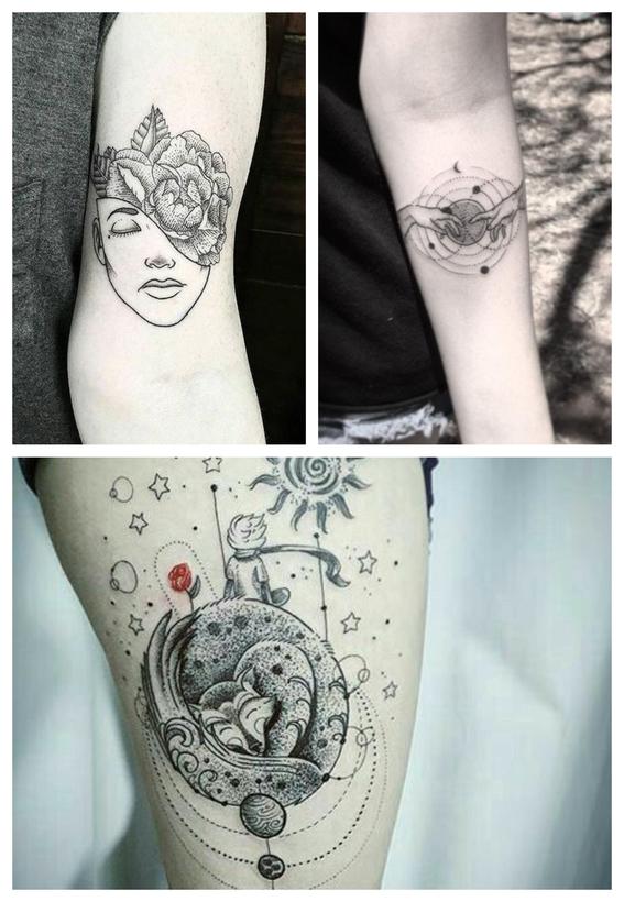 tatuajes en puntillismo 10