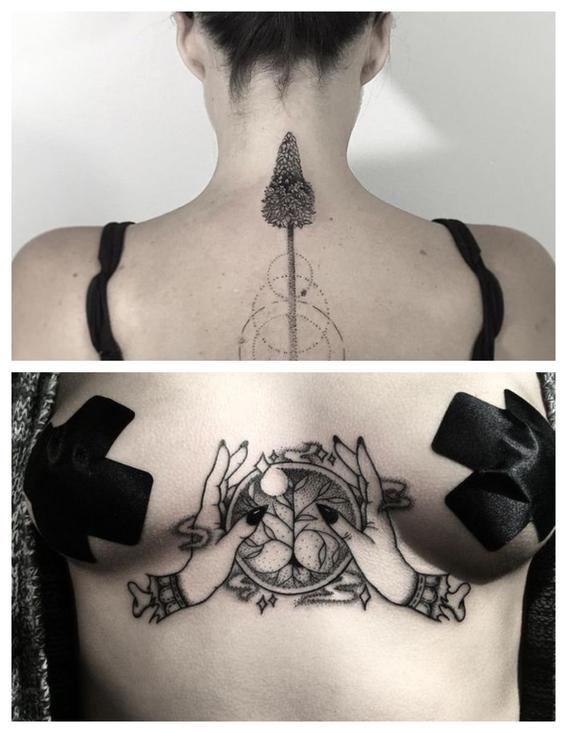 tatuajes en puntillismo 11