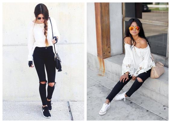 formas de usar jeans negros 5