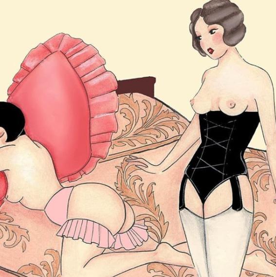 ilustraciones eroticas de amalia russiello 5