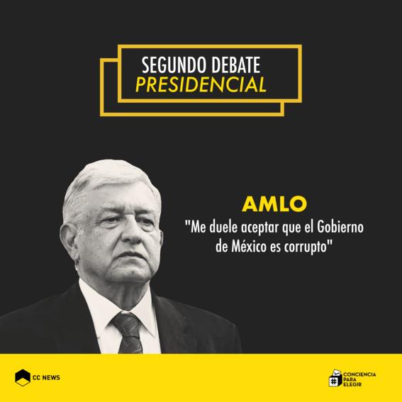 andres manuel lopez obrador segundo debate presidencial 2