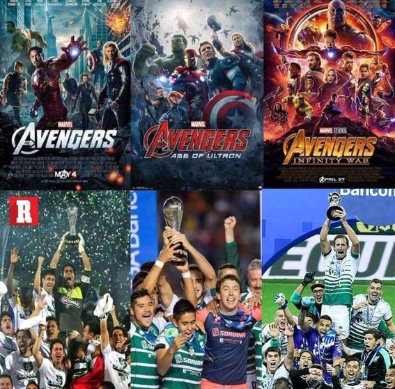 cada que avengers estrena pelicula santos es campeon del futbol mexicano 1