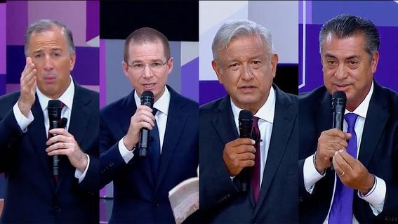 audiencia baja segundo debate presidencial 4
