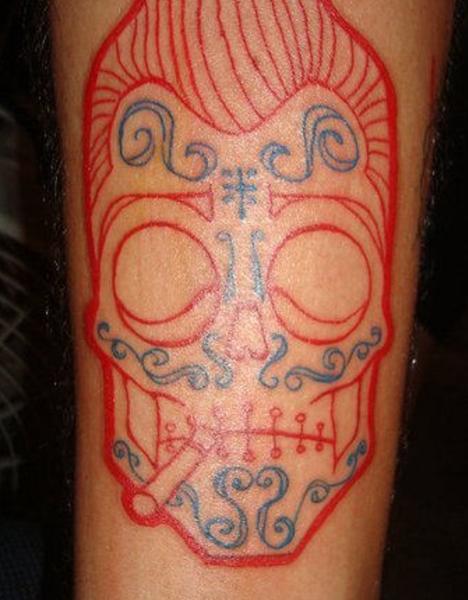 tatuajes de tinta roja para hombres 6