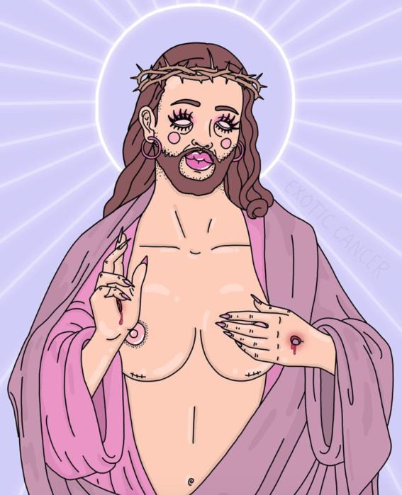 ilustraciones de exotic cancer sobre prostitucion 11