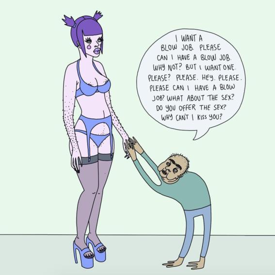 ilustraciones de exotic cancer sobre prostitucion 1