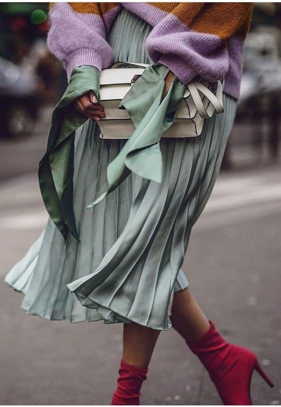 formas de combinar botas y vestido 6