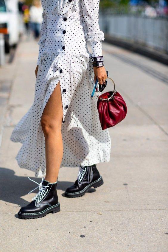 formas de combinar botas y vestido 12