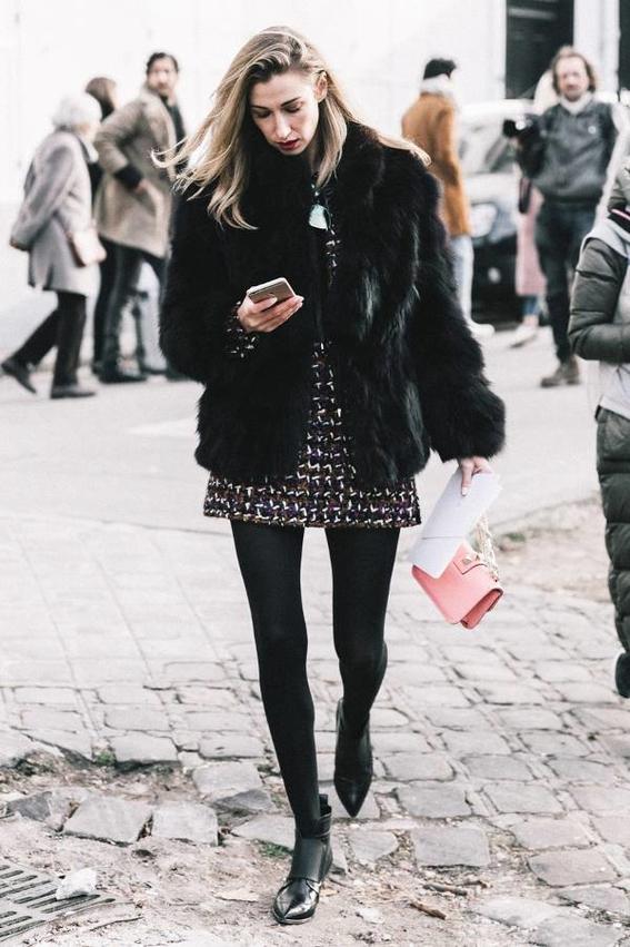 formas de combinar botas y vestido 13