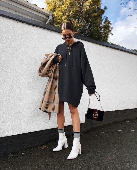 formas de combinar botas y vestido 14