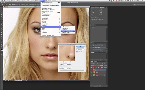 como quitar imperfecciones con photoshop 3