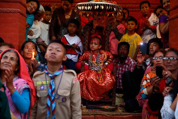 fotografias de ninas diosas en nepal 3