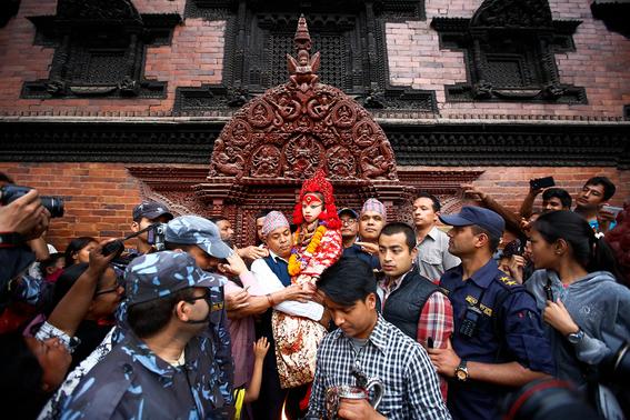 fotografias de ninas diosas en nepal 5
