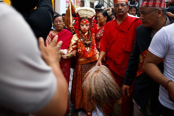 fotografias de ninas diosas en nepal 6