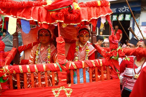 fotografias de ninas diosas en nepal 7