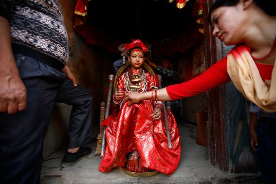 fotografias de ninas diosas en nepal 8