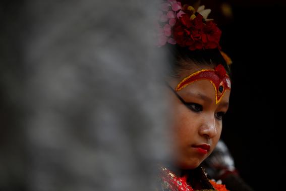 fotografias de ninas diosas en nepal 9
