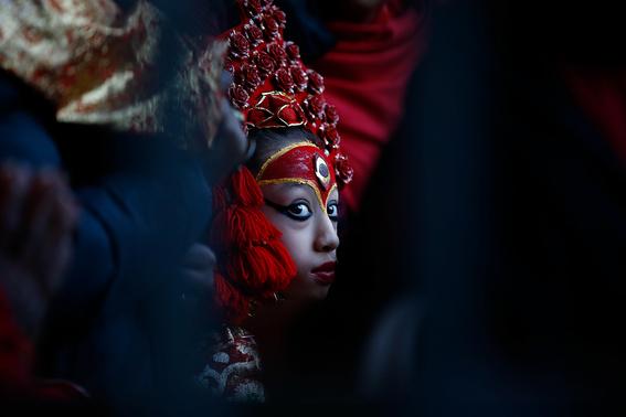fotografias de ninas diosas en nepal 11