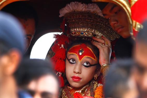 fotografias de ninas diosas en nepal 13
