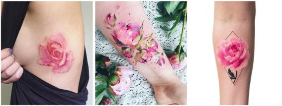 tatuajes color rosa 5