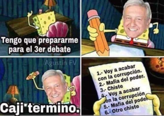 memes del tercer debate presidencial 8