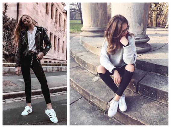 consejos sobre como combinar tus tenis blancos con ropa negra 3