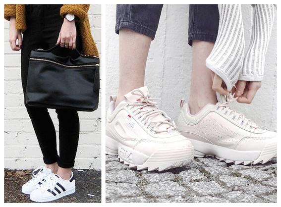 consejos sobre como combinar tus tenis blancos con ropa negra 4