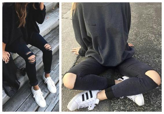 consejos sobre como combinar tus tenis blancos con ropa negra 5