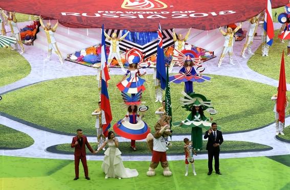 robbie williams en la inauguracion del mundial 2