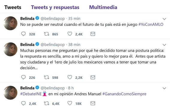 famosos que apoyan a los candidatos a la presidencia de mexico 2